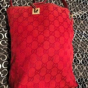 💯 Authentic Vintage Fabric Gucci Bag
